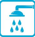 bathroom symbol with shower icon vector image