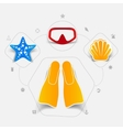 Set of summer tourism icons vector image