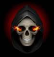 Flaming Skull death 02 vector image