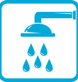 bathroom symbol with shower icon vector image