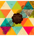 hipster banner made of triangles Retro label vector image