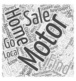 How to Find Motor Homes for Sale Word Cloud vector image