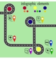 Road infographics Highway with marked stops vector image