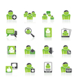 Social Media and Network icons vector image