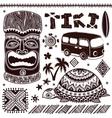 Vintage Aloha Tiki vector image
