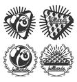 Vintage billiard emblems vector image