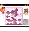 maze activity task vector image