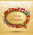 Christmas vintage bubble for speech vector image