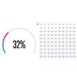 set of circular sector percentage diagrams vector image