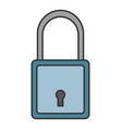 padlock flat colored icon of lock isolated on vector image