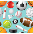 sport balls background seamless vector image