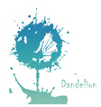 Decorative flover dandelion vector image
