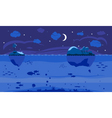 Night Sea Game Background vector image vector image