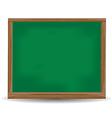 Green chalkboard blackboard vector image vector image