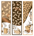 coffee and tea banners vector image