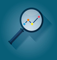 Business Analysis symbol with magnifying glass ico vector image vector image