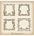 Set of calligraphic Vintage frame vector image