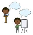 Cute African-American businessmen vector image vector image