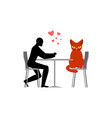 cat lover in cafe my kitty lovers in restaurant vector image