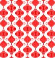 China Lamp Seamless Pattern vector image