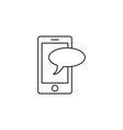 Communication icon outline vector image
