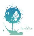 Decorative flover dandelion vector image