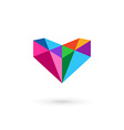 Diamond logo icon design template with letter V vector image