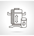 Flat line coffee mill icon vector image
