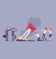 startup rocket crash vector image