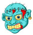 zombie head cartoon vector image