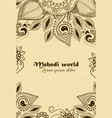 Background in indian ornamental style mehndi vector image