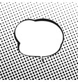 speech bubble on background with black dots vector image
