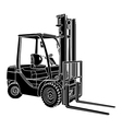 Forklift silhouette vector image