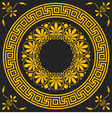 golden square and round Greek ornament Meander vector image vector image