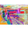 original abstract digital painting vector image vector image