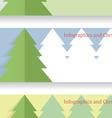 Modern Christmas infographics vector image