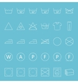 Washing and ironing clothes thin lines icon set vector image