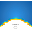 flag background Ukraine vector image vector image