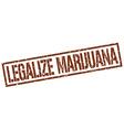 legalize marijuana stamp vector image