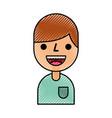 cartoon boy male character avatar portrait vector image