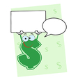 Cartoon dollar sign vector image