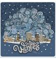 cartoon winter fairytale town vector image