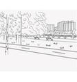 crosswalk road graphic black white landscape vector image