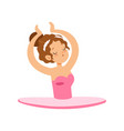 lovely ballerina girl character in pink dress vector image