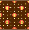 new year 2016 seamless pattern with monkey head vector image