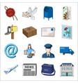 postman envelope mail box and other attributes vector image