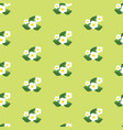 seamless pattern with flowers pretty floral vector image