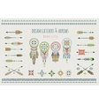 Set of arrows dream catchers Indian elements vector image