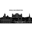 spain san sebastian architecture city vector image