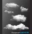 Transparent set of cloud vector image